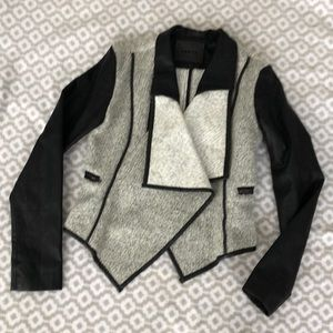 BlankNYC Wool and Vegan Leather Jacket